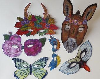 Masks for A Midsummer Night's Dream, Fairy Masks, Wedding Masks