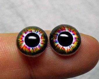 Doll irises 10mm Metallic color Jester