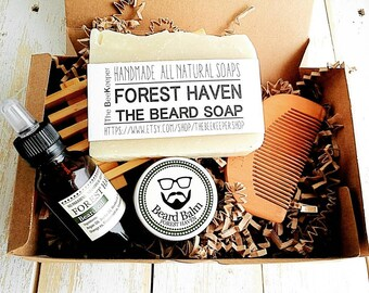 Beard Kit, Beard Grooming Kit, Beard Soap, Beard Oil, Beard Comb, Beard Care, Beard Shampoo, Beard Conditioner, Fathers Day Gift, Beard Bar