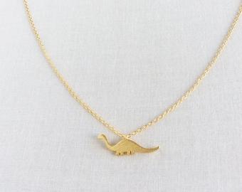 Dinosaur Necklace - Dinosaur Jewelry - Dinosaur Jewellry - Dinosaurs - Dinosaur - Tiny Dinosaur Necklace - Small Gold Necklace, GPN13