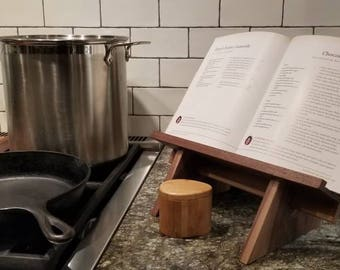 Cookbook Stand in Black Walnut, Ipad Stand, Tablet Stand