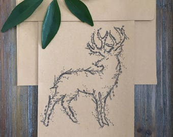 Oh Deer!- Handmade Greeting Card