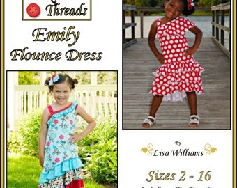 INSTANT DOWNLOAD:Emily Flounce Dress - diy Tutorial pdf eBook Pattern - Sizes 2 to 16 includes slim fit sizes - Designed for knits