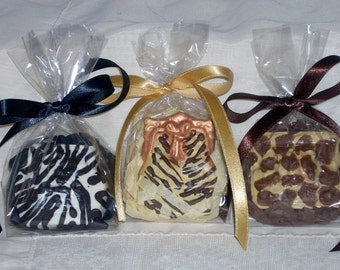 Animal Print Ladies Chocolate Purse Favors Zebra Leopard Giraffe