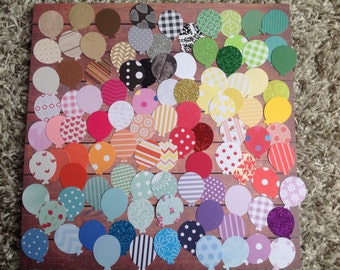 Balloon confetti, paper confetti, mixed colour confetti , tags, large balloon die cuts