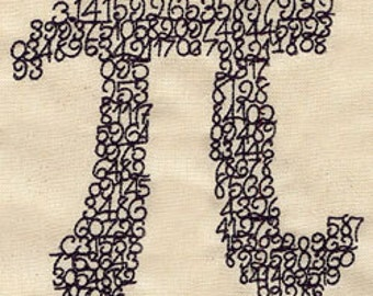 Pi 3.14 Embroidered Flour Sack Hand/Dish Towel