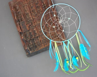 "Dream catcher Nature & Co ""Spirit of the Islands"" turquoise & lime green or Dreamcatcher"