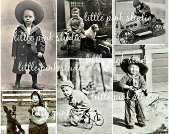 What Little Boys are Made Of,   Printable Collage Sheet (digital download, printable)