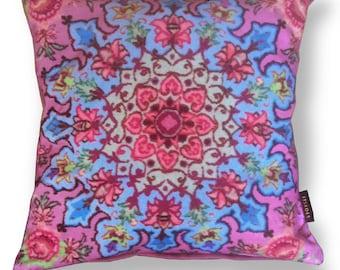 Sofa pillow pink velvet cushion cover CUPCAKE
