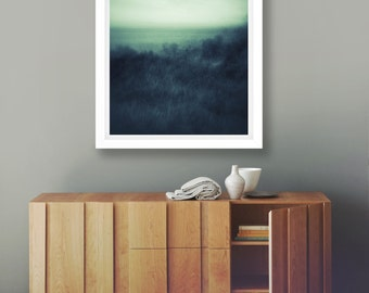 Abstract Coastal Art, Fine Art Print, Australia Ocean, Seascape Decor, Sea Blue Print, Abstract Landscape, Ocean Giclee, Unframed Print, Art