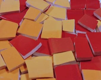 Mosaic Tiles - HuGE BLeND ~ SHaDeS of SuNSeT~ 150 Broken China Tiles