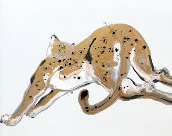 """Jonson Wang 165 39x39"""" Leopard"""