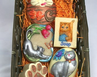 Cat Lovers Soap Gift Pack