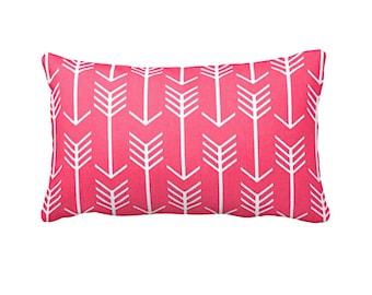 Pink Throw Pillow Cover Hot Pink Pillow Cover Decorative Pillow for Bed Pillow Pink Pillowcase Pink Cushion Cover Arrow Pillow Lumbar Pillow