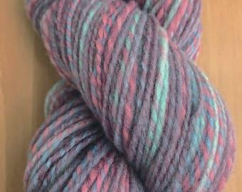 200 yds worsted weight Falkland wool handspun yarn