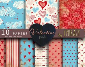 Valentine paper. Valentines paper. Valentine's day. Love digital paper. Valentine's paper. Digital valentine. Heart paper.
