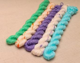 Hand dyed yarn 'On Display' Sock
