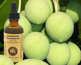 Virgin Tamanu Oil (organic, undiluted, unrefined) from Vanuatu (Volcanic Earth). Acne Scars Wrinkles Burns & More.