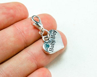 Baby Boy Charm. Cute Baby Shower Favor for New Baby. New Mom Charm. SCC271