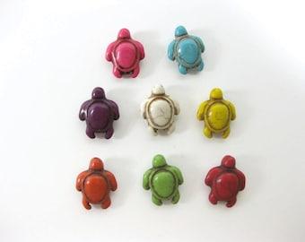17mm Howlite Tortoise Beads Set of Eight
