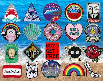Shark Patches Band Patches Iron On Patch Embroidered Patch Cool Patches Custom Patches Jacket Patches