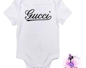 Classic Designer Inspired Baby Onesie Babyshower Gift | First Birthday | Onesie for Boys | Onesie for Girls