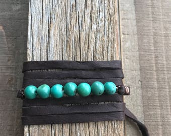 Gemstone Leather Convertible Wrap
