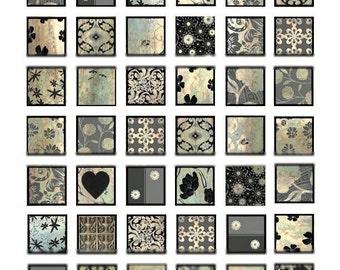 Metallic Patina No. 1 - 1x1 - Digital Collage Sheet - Instant Download