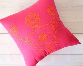 Mehndi Cushion Cake : Henna cushion etsy