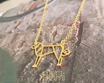 Anatolian Shepherd , Dog Necklace, Origami Necklace, Pet necklace, Shepherd jewelry, Shepherd  Dog, Dog Breeds, Gift for dog lover, Pet gift