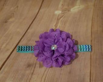 Baby Headband, Purple Headband, Mermaid Headband, Flower Headband, Baby, Toddler