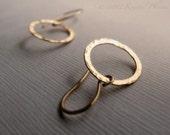Hammered Circle Earrings ...