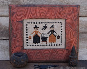 Double Double...Primitive PDF Cross Stitch Pattern By The Humble Stitcher