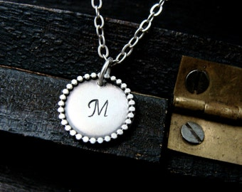 personalized initial pendant ... sterling silver