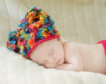 CROCHET PATTERN PDF - Fuzzy Rainbow Outfit Crochet Pattern - Permission To Sell Finished Items