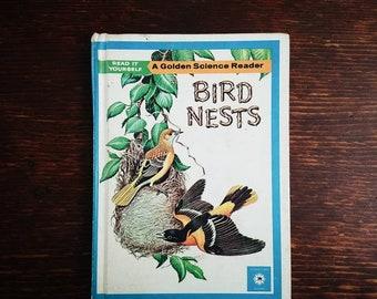 Bird Nests, Vintage Children's Bird Book