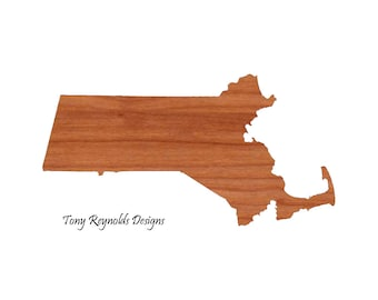 Personalized gift Cutting Board Engraved Massachusetts State Shaped Cutting Board Christmas Gift Kitchen Foodie Cutting Board Customized