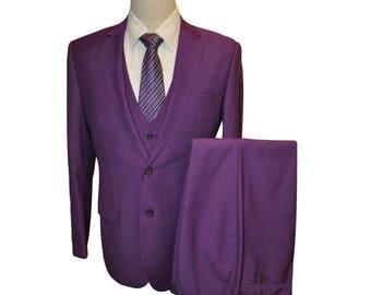 3 Piece Suit in Purple
