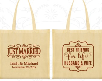 Tote Bag Canvas, Tote Bags, Wedding Tote Bags, Personalized Tote Bags, Custom Tote Bags, Wedding Bags, Wedding Favor Bags (528)