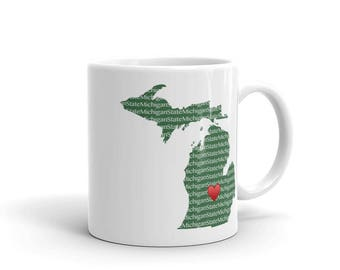 Heart MSU Mug