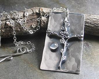 Kreuz Anhänger rose Kreuz christlichen Schmuck religiöser Schmuck Sterling Silber Mondstein - Heilige Rose