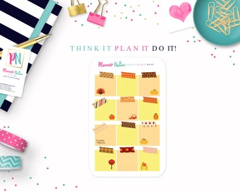 Planner Stickers Sticky Note Autumn-Perfect for Erin Condren, The Happy Planner, Filofax, Plum Planner, Kikki K, scrapbooking and more!