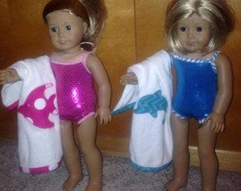 """18"""" Doll Swimsuit - fits American Girl Doll"""