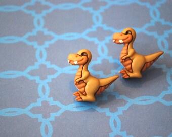 Dinosaur Earrings -- Dinosaur Studs, T-rex Earrings, Dinos, Sharptooth
