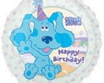 FAST SHIP Blue's Clues Birthday Balloons, Blue Dog Party Balloons, Blues Clues Mylar Foil Balloon, Blues Clues Party Supplies