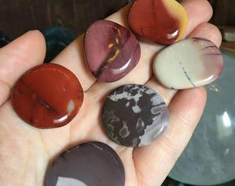 Mookaite Palm Stones, Palm Stones, Mulit-color Mookaite Palm Stones, Mookaite Worry Palm Stones, Healing Palm Stones, #MSMP3