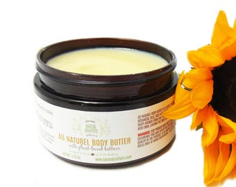 Au Naturel Body Butter - Dry Skin, Unscented, Sensitive Skin, Hands, Baby Bottom, Elbows, Knees, Heels, Feet, Cracks, Lips