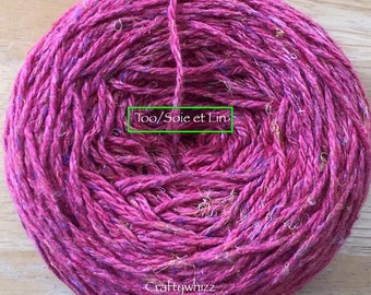 Knit One Crochet Too/Soie et Lin -  Red Cherry