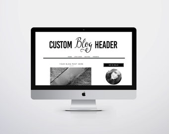 Custom Blog Header Design