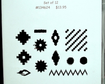 Used Like New! Eye-Catching Ikat Stampin' Up! retired photopolymer stamp set (12)